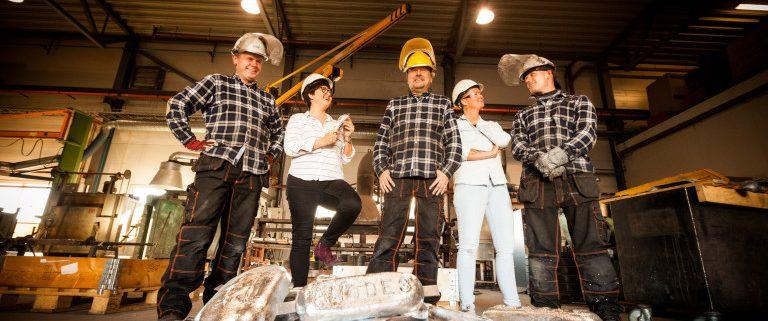 Bilde av de ansatte i marcussen metallstøperi
